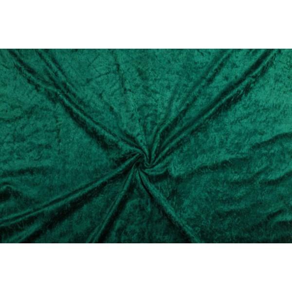 Velour de pannes donkergroen - 10m stof op rol