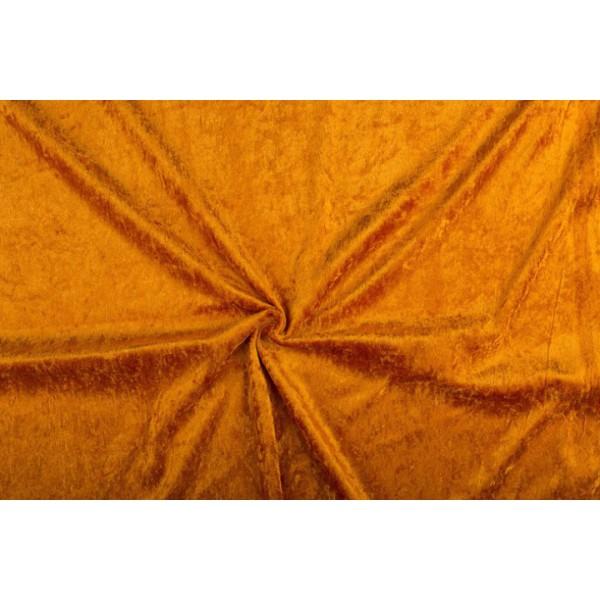 Velour de pannes zalm - 45m stof op rol