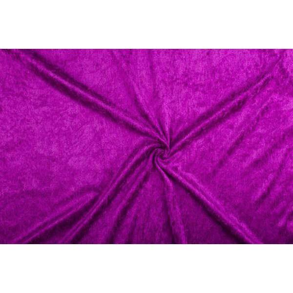Velour de pannes paars - 10m stof op rol