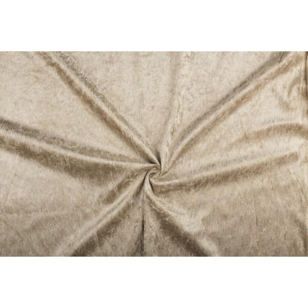 Velour de pannes zandbruin - 45m stof op rol
