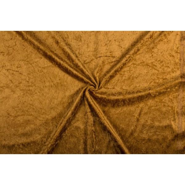 Velour de pannes lichtbruin - 10m stof op rol