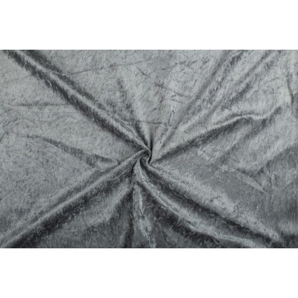 Velour de pannes antraciet - 45m stof op rol
