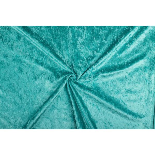 Velour de pannes zeeblauw - 45m stof op rol