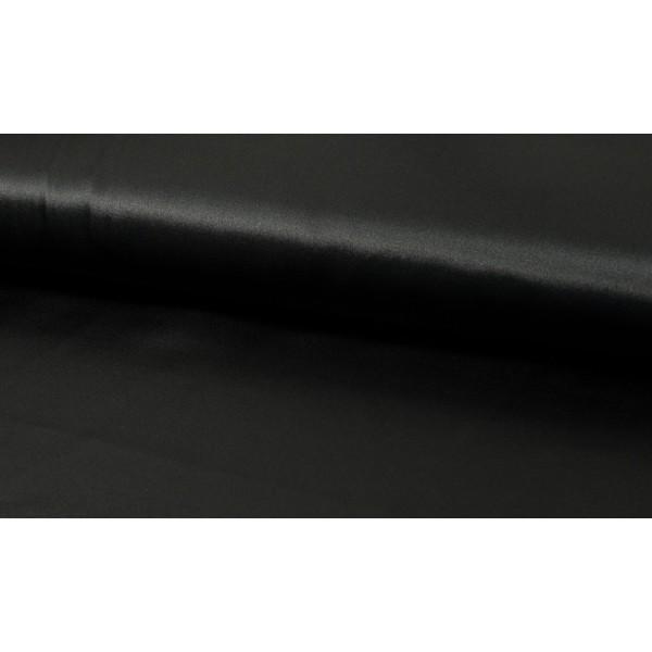 Satijn Deluxe Zwart - Glanzende zwarte stof