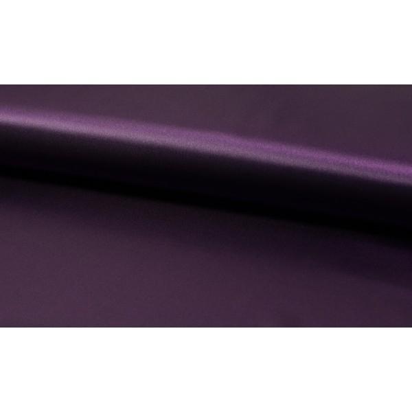 Satijn Deluxe Donkerpaars - Glanzende paarse stof