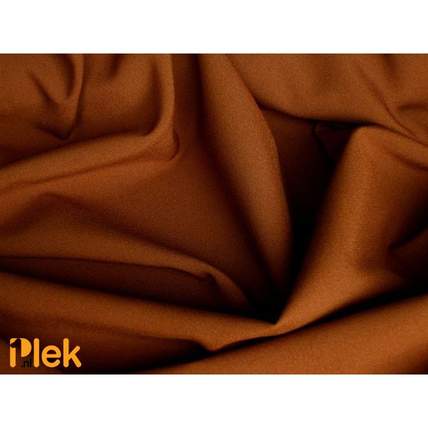 Texture stof Bruin 40m per rol - Polyester