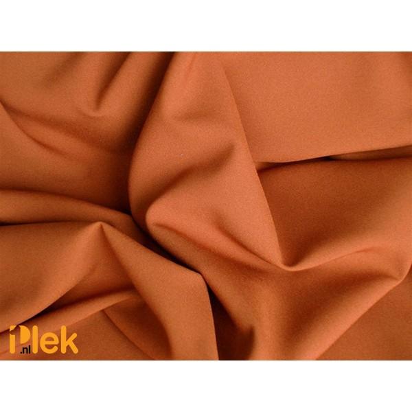 Texture stof Kastanjebruin - Polyester stoffen