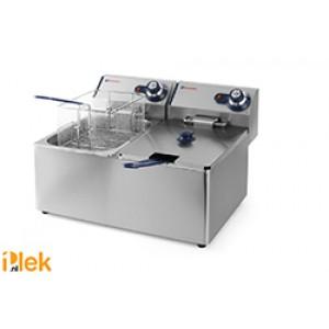 RVS friteuse 2x 8,0 Liter