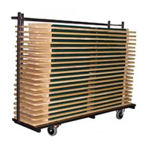 Transportkar + 40 Bierbanken (Set) 230x58-83x170cm