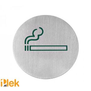 Deurschild rvs Roken groen 75mm