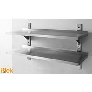 Wandplank rvs 1400x355x600mm dubbel