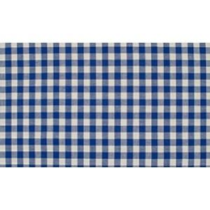 Midnachtsblauw wit geruit katoen - Boerenbont middel ruit