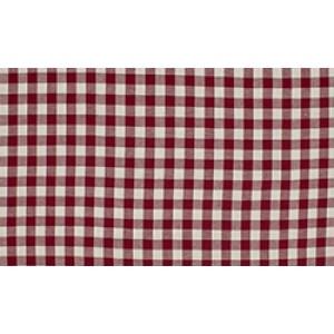 Bordeaux Rood wit geruit katoen - Boerenbont middel ruit