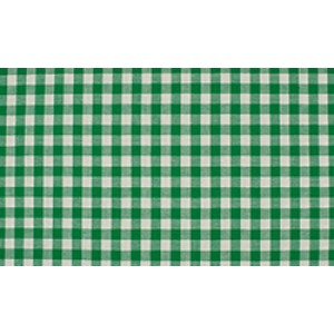 Groen wit geruit katoen - Boerenbont middel ruit