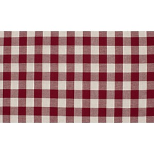 Bordeaux Rood wit geruit katoen - Boerenbont grote ruit