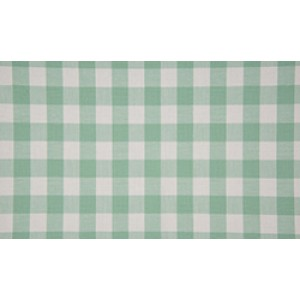Mint wit geruit katoen - Boerenbont grote ruit