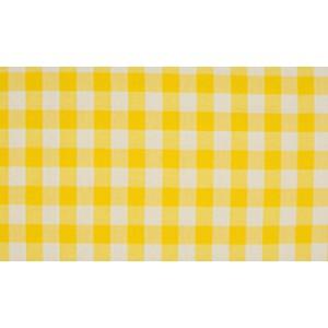 Geel wit geruit katoen - Boerenbont grote ruit