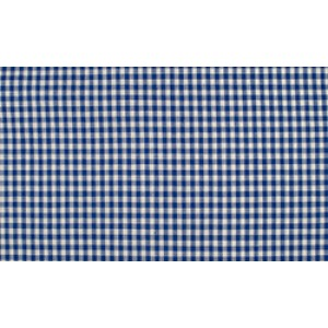 Midnachtsblauw wit geruit katoen - Boerenbont kleine ruit