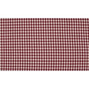 Bordeaux Rood wit geruit katoen - Boerenbont kleine ruit