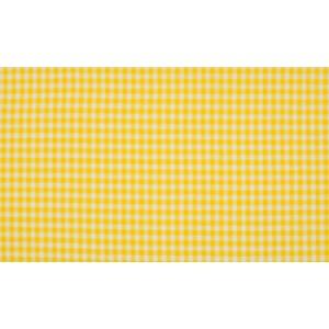 Geel wit geruit katoen - Boerenbont kleine ruit