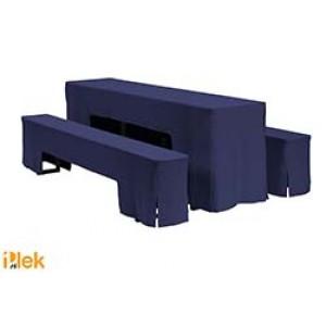 Biertafelhoes Arcade Diepdonkerblauw
