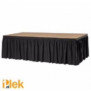 Podiumrok Boxpleat zwart 410 bij 100 cm
