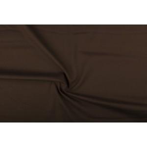 Katoen bruin - Katoenen stof op 10m rol
