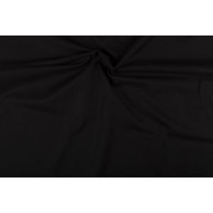 Katoen zwart - Katoenen stof op 10m rol