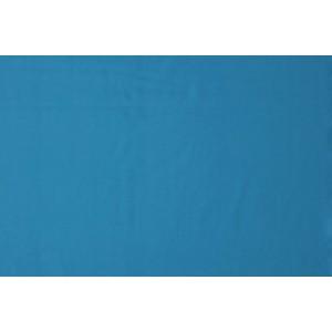 Katoen waterblauw - Katoenen stof op 10m rol