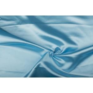 Satijn 15m rol - Lichtblauw - 100% polyester