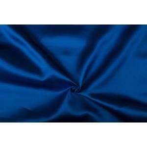 Satijn 15m rol - Blauw - 100% polyester