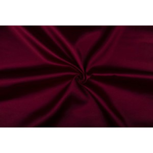 Satijn 50m rol - Bordeaux rood - 100% polyester