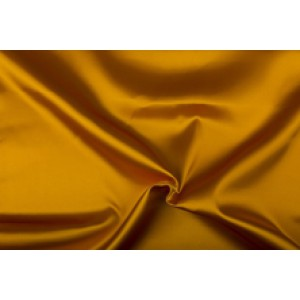 Satijn 15m rol - Goudgeel - 100% polyester