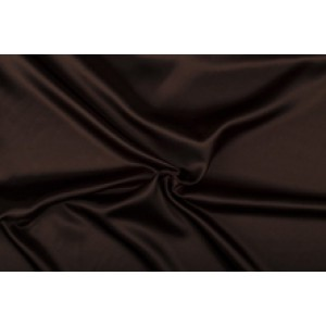 Satijn 50m rol - Bruin - 100% polyester