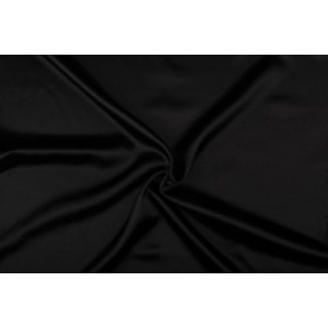 Satijn 50m rol - Zwart - 100% polyester