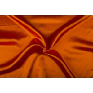 Satijn 15m rol - Oranjerood - 100% polyester