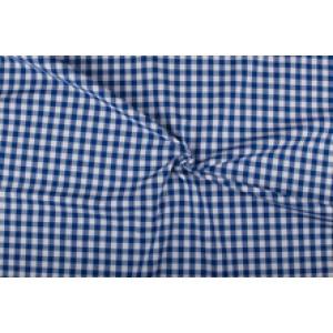 Blauw wit geruit katoen - Boerenbont - 10mm ruit - 10m rol