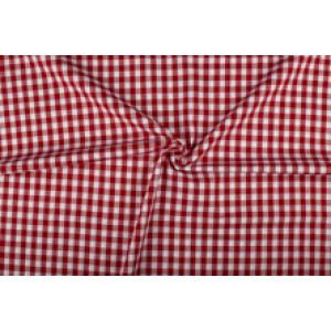 Rood wit geruit katoen - Boerenbont - 10mm ruit - 10m rol