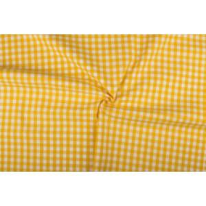 Geel wit geruit katoen - Boerenbont - 10mm ruit - 10m rol