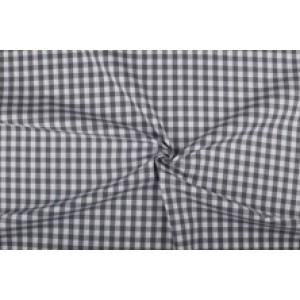 Antraciet wit geruit katoen - Boerenbont - 10mm ruit - 10m rol