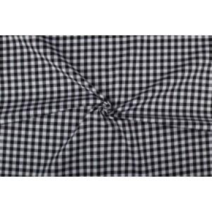 Zwart wit geruit katoen - Boerenbont - 10mm ruit - 10m rol