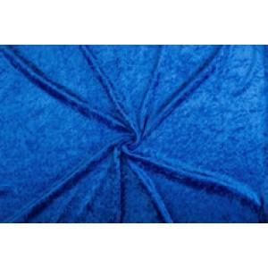 Velour de pannes cobalt - 10m stof op rol
