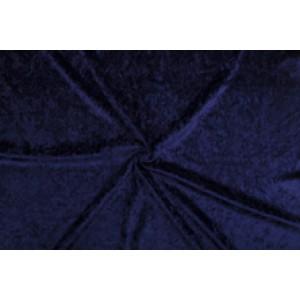 Velour de pannes marineblauw - 10m stof op rol