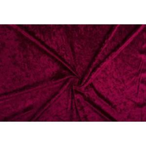 Velour de pannes bordeaux rood - 10m stof op rol