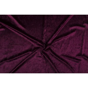 Velour de pannes donker bordeaux rood - 10m stof op rol