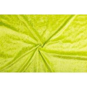 Velour de pannes limoen - 10m stof op rol