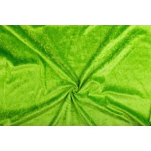 Velour de pannes limoengroen - 10m stof op rol