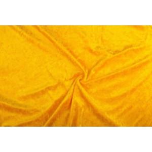 Velour de pannes okergeel - 10m stof op rol