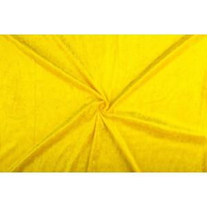 Velour de pannes geel - 10m stof op rol