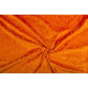 Velour de pannes baksteenoranje - 10m stof op rol